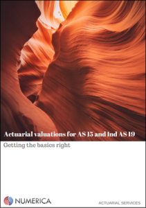 Actuarial valuations for AS 15 and Ind AS 19