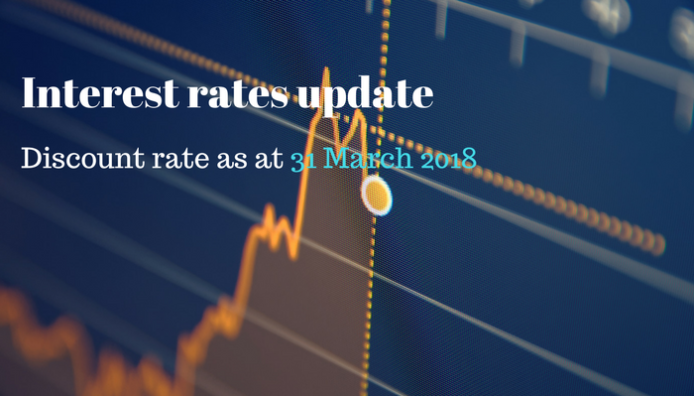 Discount rate for actuarial valuation 31 March 2018